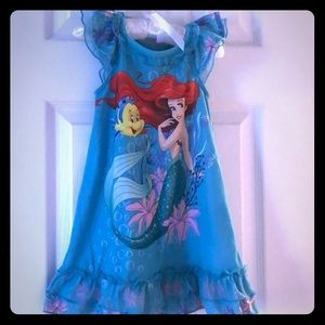 The little mermaid night gown Disney Store 2T